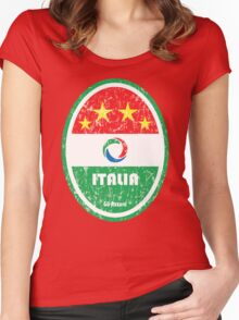 World Cup Football 2/8 - Italia (Distressed) Women's Fitted Scoop T-Shirt