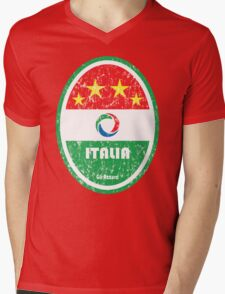 World Cup Football 2/8 - Italia (Distressed) Mens V-Neck T-Shirt