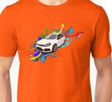 VW Golf R - Arrows paint splatter color Unisex T-Shirt