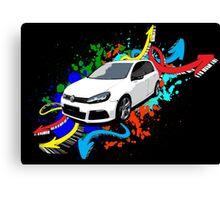 VW Golf R - Arrows paint splatter color Canvas Print