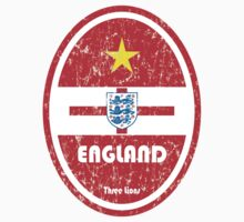 World Cup Football 6/8 - England (Distressed) Baby Tee
