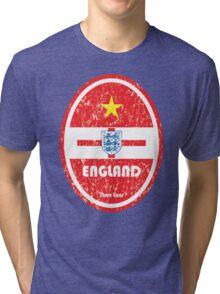 World Cup Football 6/8 - England (Distressed) Tri-blend T-Shirt