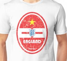 World Cup Football 6/8 - England (Distressed) Unisex T-Shirt