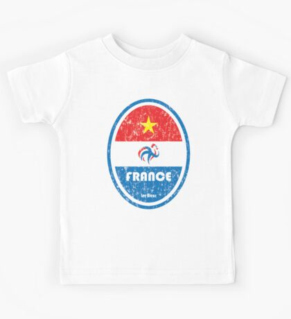 World Cup Football 7/8 - France (Distressed) Kids Tee