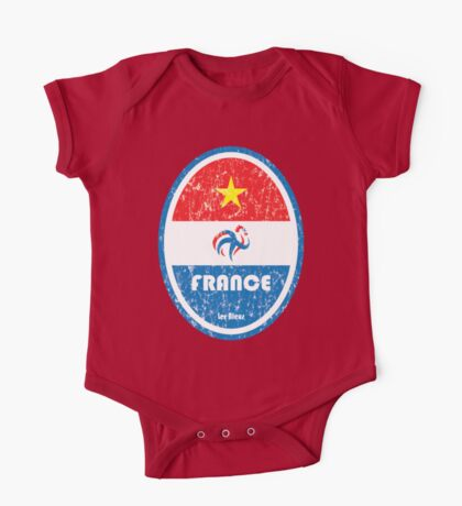 World Cup Football 7/8 - France (Distressed) One Piece - Short Sleeve