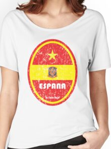 World Cup Football 8/8 - Espana (Distressed) Women's Relaxed Fit T-Shirt