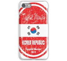 World Cup Football - Korea Republic (distressed) iPhone Case/Skin