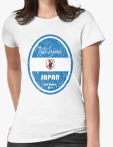 World Cup Football - Japan (distressed) Womens Fitted T-Shirt
