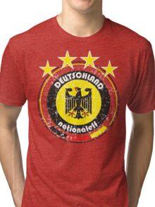 World Cup Football 3/8 - Team Deutschland (distressed) Tri-blend T-Shirt