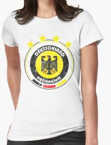 World Cup Football 3/8 - Team Deutschland (distressed) Womens Fitted T-Shirt