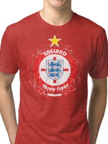 World Cup Football 6/8 - Team England (distressed) Tri-blend T-Shirt