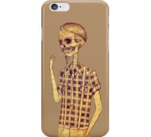 Skull men smoking iPhone Case/Skin