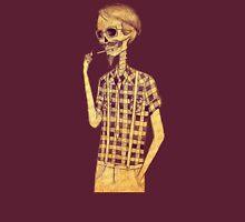Skull men smoking Unisex T-Shirt