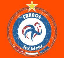 World Cup Football 7/8 - Team France (distressed) Kids Tee