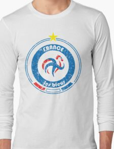 World Cup Football 7/8 - Team France (distressed) Long Sleeve T-Shirt