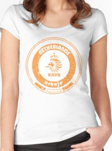 World Cup Football - Team Netherlands (distressed) Women's Fitted Scoop T-Shirt