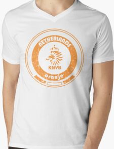 World Cup Football - Team Netherlands (distressed) Mens V-Neck T-Shirt