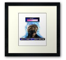 """Just Take A Limit Break"" Cloud Merchandise Framed Print"