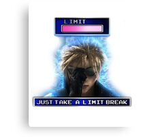 """Just Take A Limit Break"" Cloud Merchandise Canvas Print"
