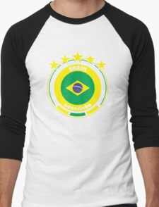 World Cup Football 1/8 - Team Brasil Men's Baseball ¾ T-Shirt