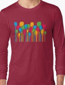 abstract people crowd Long Sleeve T-Shirt