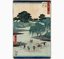 Fujieda - Hiroshige Ando - 1855 - woodcut Unisex T-Shirt