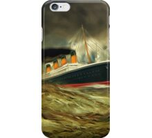 A digital painting of RMS Titanic, especially for Woodie iPhone Case/Skin