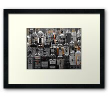 Pick Your Poison Alcohol Bar Framed Print
