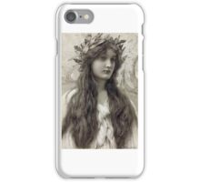 Henry Ryland - Maiden with a Laurel Wreath iPhone Case/Skin