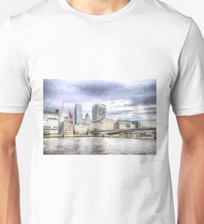 City of London and River Thames Snow Art Unisex T-Shirt