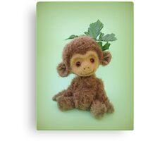 Handmade bears from Teddy Bear Orphans - Charlie Chimp Canvas Print