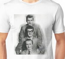 Buddy Holly and the Crickets by John Springfield Unisex T-Shirt