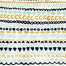 Navy, Teal & Mustard Tribal by Tangerine-Tane