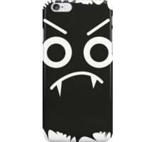 Black and white emoticon iPhone Case/Skin
