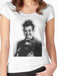 Stan Laurel Women's Fitted Scoop T-Shirt