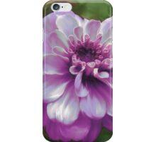 Beautiful Purple Zinnia Painting iPhone Case/Skin