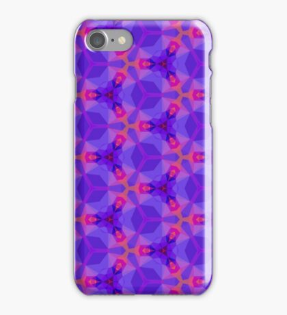 Blue and red Geometric pattern iPhone Case/Skin