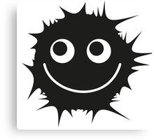 Black and white emoticon Canvas Print
