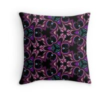 Abstract Floral Swirls and Flourishes  Throw Pillow