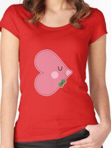 Pocket man: Heartfish 1 Women's Fitted Scoop T-Shirt