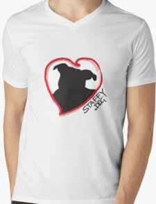 Staffy Dog in My Heart Mens V-Neck T-Shirt