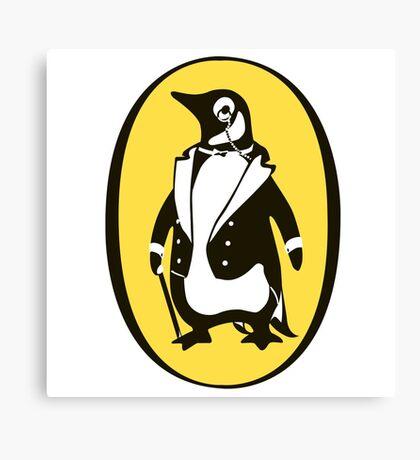 penguin : gentleman Canvas Print