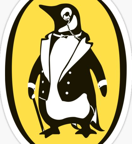 penguin : gentleman Sticker