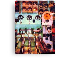 Electrical Control Room Canvas Print