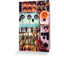 Electrical Control Room Greeting Card