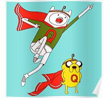 Adventure time Jake and Finn Quailman Poster