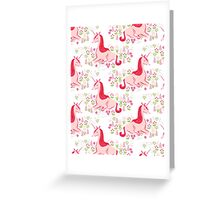 Unicorn // pastel pink white andrea lauren  Greeting Card
