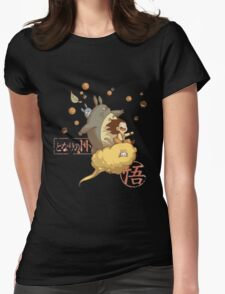 Totoro Ball Womens Fitted T-Shirt