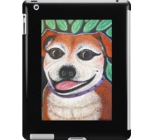 Gracie May Staffy Dog under the lime tree iPad Case/Skin