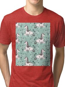 Unicorn // mint pastel andrea lauren  Tri-blend T-Shirt